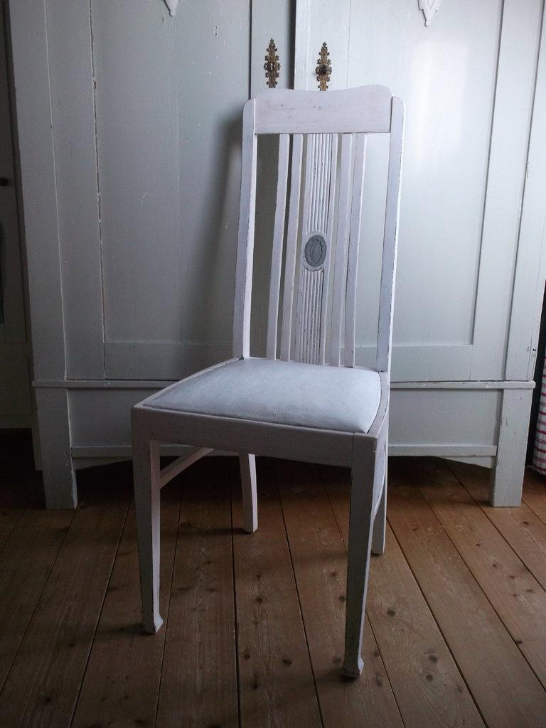 antiker stuhl shabby chic wei rosa ebay vorlage standard. Black Bedroom Furniture Sets. Home Design Ideas
