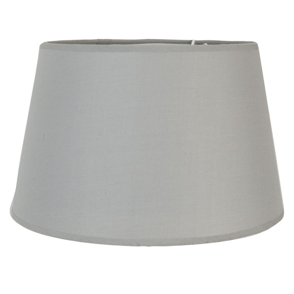 clayre eef lampenschirm grau stoff e27 ebay vorlage standard. Black Bedroom Furniture Sets. Home Design Ideas